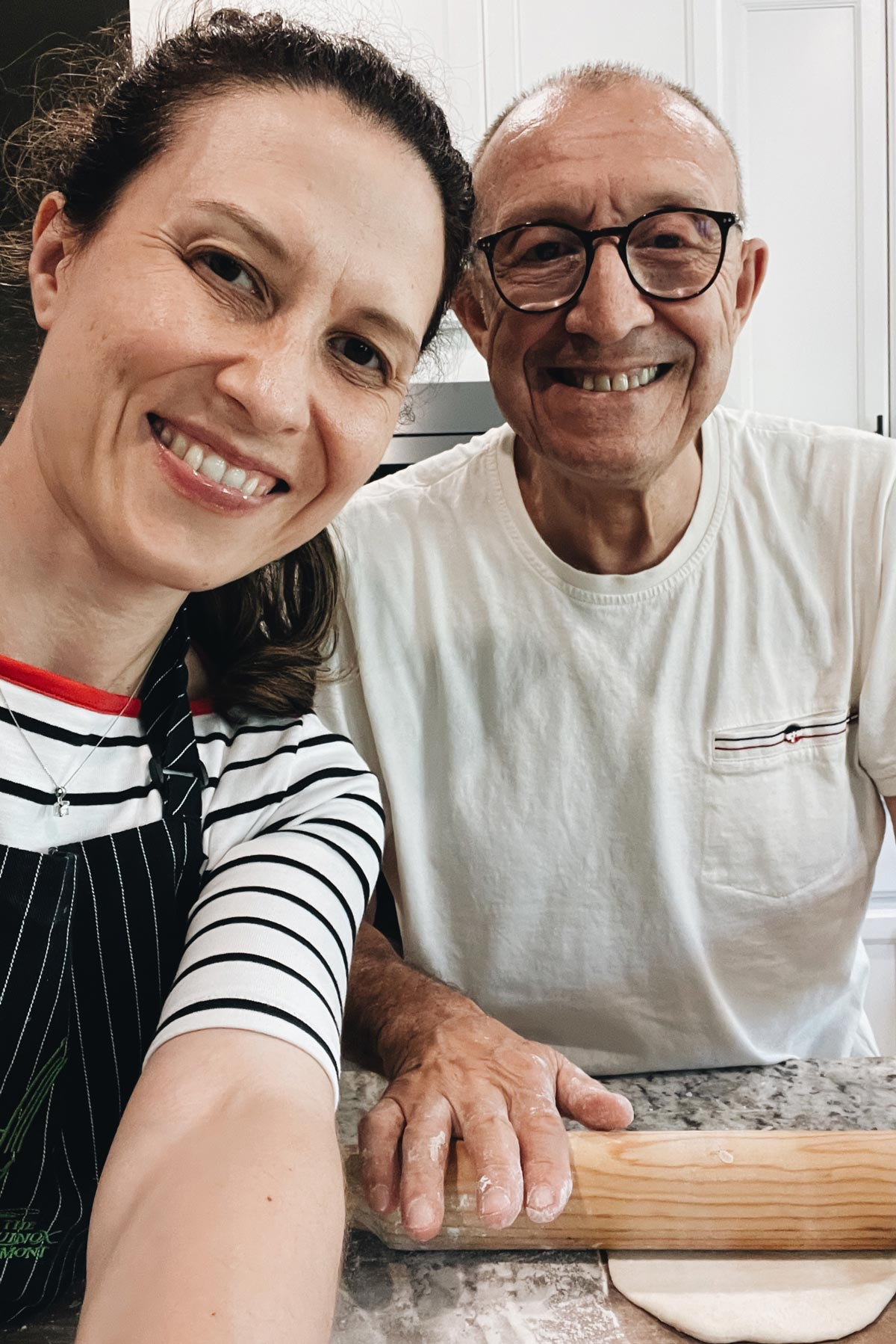 Cooking with my dad