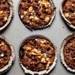 Gluten free almond flour zucchini muffins in a tin